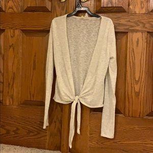 cream wrap around sweater